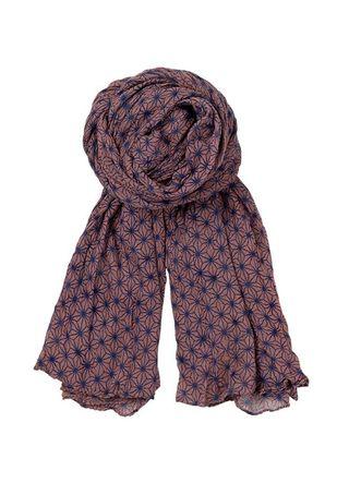 Foulard becksondergaard coton bleu rose